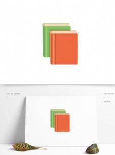 矢量立体纸质装订成册图书书籍笔