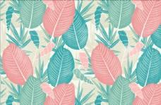 手绘热带植物