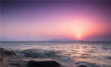 唯美海岸日出日落