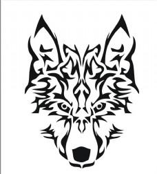 狼头矢量素材