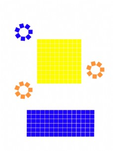 放格子正方形长方形创意矢量图形