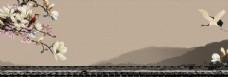 中国风山水画背景