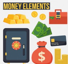 9款精美金融元素图标矢量素材