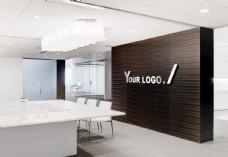 LOGO形象墙办公室场景贴图样