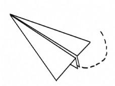 纸飞机线稿