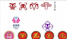 北川标志   羊头