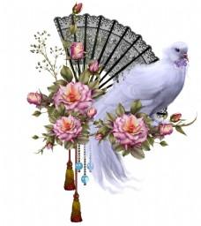 绝美手绘鲜花花束超清透明PNG