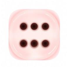 浅粉色的骰子插画