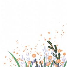 彩绘植物一堆彩色花朵免抠图