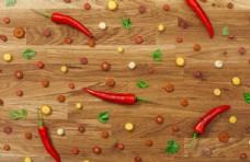 木板上的蔬菜