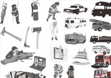 卡通消防用具