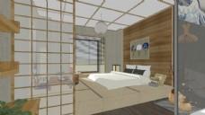 日式酒店客房装饰设计