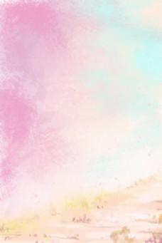 粉色梦幻春季背景