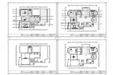 别墅户型欧式风格CAD施工图纸