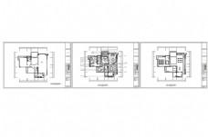 三房欧式豪装CAD施工图纸