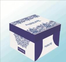 方盒 蛋糕盒 青花瓷