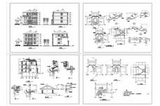 别墅住宅建筑CAD施工图纸