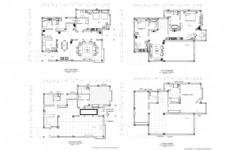 别墅欧式风格CAD施工图纸