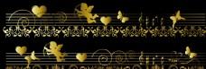 歐式金色花紋