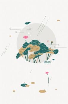 花鸟山水画 中国风 水墨工笔画