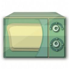绿色方形微波炉