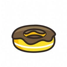 巧克力甜甜圈面包图标