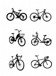 自行车剪影