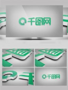 3D企业logo展示AE模板