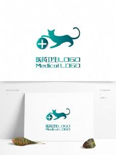 原创创意简约猫宠物医院医药卫生LOGO