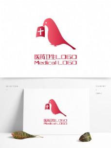 原创创意简约鸟宠物医院医药卫生LOGO
