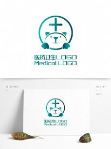 原创创意简约狗宠物医院医药卫生LOGO