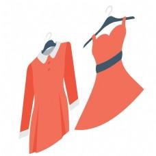 两个红色的裙子