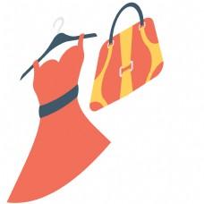 裙子和卡通包包