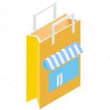 创意的购物袋商店