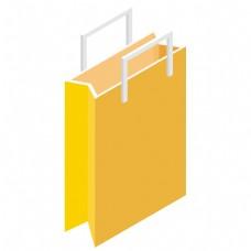黄色的卡通购物袋