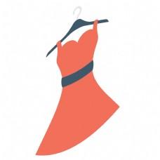 红色的卡通裙子