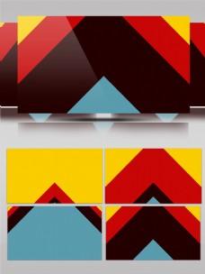 图形转场三角形配色