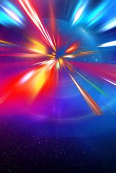 彩色创意电商光效背景