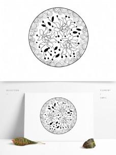 灰色花纹装饰图案
