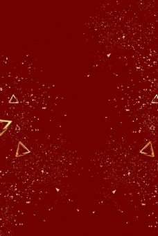 红色喜庆电商几何三角形背景