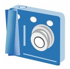 蓝色数码相机