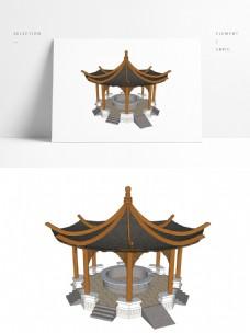 传统中式凉亭SU模型