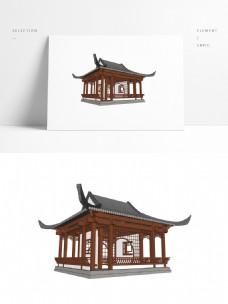 古典中式亭子SU模型