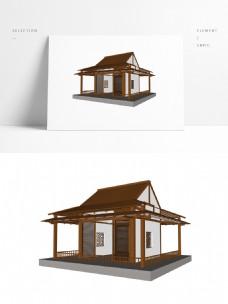 新中式亭子草图大师模型