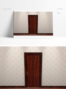 简约现代卧室的单开门