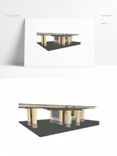 新中式风格廊亭SU模型