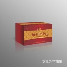 高档礼盒保健品蛹虫草钙包装设计