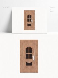家用木制单开玻璃门