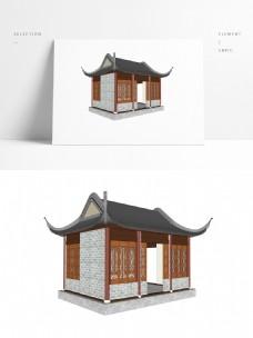 四角亭草图大师模型