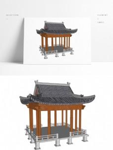 凉亭常用景观模型